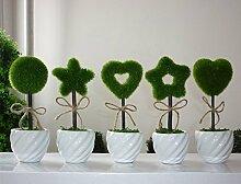 SU@DA Kreative Simulation Pflanze Bonsai Home Dekoration Valentinstag Geschenk , variety of random