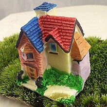 SU@DA Micro Cottage Landschaft Dekoration für DIY Resin Crafts Villa , 1
