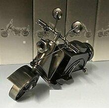 SU@DA Moderne Motorradmodelle Eisen Dekorationen Desktop-Dekoration 19 * 12 * 10cm , gun black