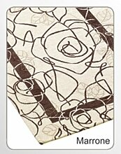 Suardi Velour Teppich, Modell: Camelia, hergestellt in Italien, 65x 110cm, 10Farben erhältlich 65X110 braun