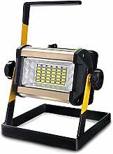 SUAVER 50W LED Wiederaufladbar Flutlicht,Wasserdichte tragbare Mobile Strahler Arbeitsleuchte Baustrahler 36LEDs Sicherheitsbeleuchtung Kampierende Beleuchtung im Freien