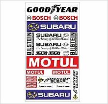 Subaru Logo Autoaufkleber Sponsoren Marken