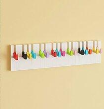 SUBBYE Garderobenständer Klavier Haken Kleiderständer Schlafzimmer Kleiderbügel Wandbehang Einfache Kreative Kleiderständer Woody Regal Farbe Optional Kleiderständer ( Farbe : Bunt )