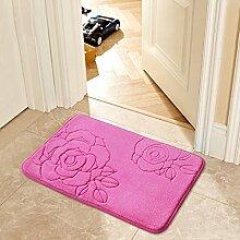 SUBBYE Türmatten 50 * 80cm Küche Foyer Fußauflage Badezimmer Anti-Rutsch Wasserabsorption Türmatten (Stil Optional) ( Farbe : #6 )