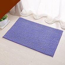 SUBBYE Türmatten Badezimmer Rutschfeste Fußpolster Wohnzimmer Schlafzimmer Bodenmatten Küche Wasserabsorptions-Türmatten (Farbe, Größe Optional) ( Farbe : Licht violett , größe : 33*50cm )