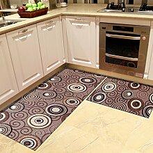 SUBBYE Türmatten Bay-Fenster Fußauflage-Küche Ölbeständige Rutschfeste Fußmatten Foyer-Türmatten (Größe Optional) ( größe : 60*90cm+60*150cm )