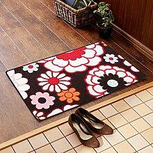 SUBBYE Türmatten Foyer Foot Pad Küche Wasserabsorptions-Türmatten Badezimmer Rutschfeste Fußmatten (Größe optional) ( Farbe : #4 , größe : 60*90cm )