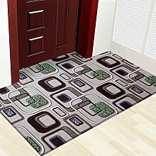 SUBBYE Türmatten Foyer HD Farbdruck Türmatten Rutschfeste Fußauflage Home Teppiche (Style, Größe Optional) ( Farbe : A , größe : 90*150cm )