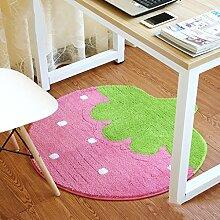 SUBBYE Türmatten Runde Wohnzimmer Schlafzimmer Fußmatten Computer Stuhl Matten Schwenkstuhl Rutschfeste Fußauflage (Stil, Größe Optional) ( Farbe : #6 , größe : 120cm )