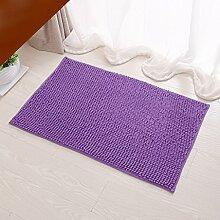 SUBBYE Türmatten Wohnzimmer Schlafzimmer Fußmatten Badezimmer Rutschfeste Fußpolster Küche Wasserabsorptions-Türmatten (Farbe, Größe Optional) ( Farbe : Lila , größe : 40*60cm )