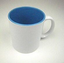 Sublimation Kaffee Tasse Becher WEISS - INNEN BLAU