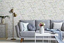 Sublime Japan-Tapete, geometrisch, Art Deco, Blau