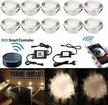 SUBOSI 10er Dimmbar LED Bodeneinbauleuchten große