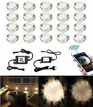 SUBOSI 20er Dimmbar LED Bodeneinbauleuchten große
