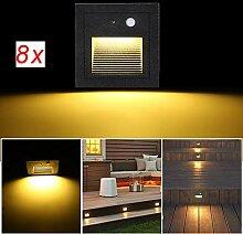 SUBOSI 8er LED Wandeinbaustrahler 3W Wandleuchte