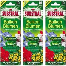 Substral 3 x Dünger-Stäbchen für Balkonpflanzen