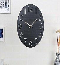 Sucastle® 12 in Holz DIY 3D Wanduhren Modern Design Acryl Wanduhren Wandtattoo Dekoration fürs Wohnzimmer Kinderzimmer Nostalgie Wanduhr ohne Tickgeräusche Wanduhr Europäische Vintage Handarbeit 3D Dekorative Zahnrad aus Holz