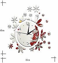 Sucastle® 12 in Plexiglas DIY 3D Wanduhren Modern Design Acryl Wanduhren Wandtattoo Dekoration fürs Wohnzimmer Kinderzimmer Nostalgie Wanduhr ohne Tickgeräusche Wanduhr Europäische Vintage Handarbeit 3D Dekorative Zahnrad aus Holz