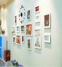 Sucastle® 16 in Acryl DIY 3D Wanduhren Modern Design Acryl Wanduhren Wandtattoo Dekoration fürs Wohnzimmer Kinderzimmer Nostalgie Wanduhr ohne Tickgeräusche Wanduhr Europäische Vintage Handarbeit 3D Dekorative Zahnrad aus Holz