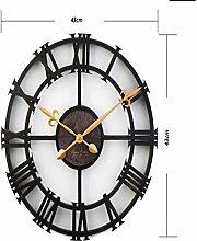 Sucastle® 16 in Kunststoff DIY 3D Wanduhren Modern Design Acryl Wanduhren Wandtattoo Dekoration fürs Wohnzimmer Kinderzimmer Nostalgie Wanduhr ohne Tickgeräusche Wanduhr Europäische Vintage Handarbeit 3D Dekorative Zahnrad aus Holz