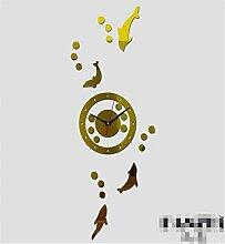Sucastle® 20 in Acryl DIY 3D Wanduhren Modern Design Acryl Wanduhren Wandtattoo Dekoration fürs Wohnzimmer Kinderzimmer Nostalgie Wanduhr ohne Tickgeräusche Wanduhr Europäische Vintage Handarbeit 3D Dekorative Zahnrad aus Holz