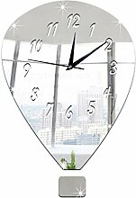 Sucastle® 30x40CM Kunststoff DIY 3D Wanduhren Modern Design Acryl Wanduhren Wandtattoo Dekoration fürs Wohnzimmer Kinderzimmer Nostalgie Wanduhr ohne Tickgeräusche Wanduhr Europäische Vintage Handarbeit 3D Dekorative Zahnrad aus Holz