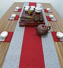 Sucastle® 35x160cm Leinen Tischläufer Hochzeit