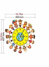 Sucastle® 40.7CMx40CM PVC DIY 3D Wanduhren Modern Design Acryl Wanduhren Wandtattoo Dekoration fürs Wohnzimmer Kinderzimmer Nostalgie Wanduhr ohne Tickgeräusche Wanduhr Europäische Vintage Handarbeit 3D Dekorative Zahnrad aus Holz