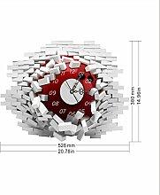 Sucastle® 52.8CMx38CM PVC DIY 3D Wanduhren Modern Design Acryl Wanduhren Wandtattoo Dekoration fürs Wohnzimmer Kinderzimmer Nostalgie Wanduhr ohne Tickgeräusche Wanduhr Europäische Vintage Handarbeit 3D Dekorative Zahnrad aus Holz