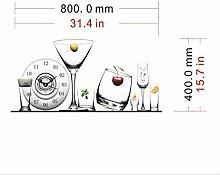 Sucastle® 80CMx40CM PVC DIY 3D Wanduhren Modern Design Acryl Wanduhren Wandtattoo Dekoration fürs Wohnzimmer Kinderzimmer Nostalgie Wanduhr ohne Tickgeräusche Wanduhr Europäische Vintage Handarbeit 3D Dekorative Zahnrad aus Holz