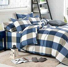 Sucastle Bedding 2024 heiß Heimtextilien Mode einfache vierteilige Bettwäsche Persönlichkeit Gongmian Sucastle: Größe: 200 * 230 cm