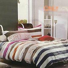 Sucastle Bedding Kreativität dreiteilig einfache geometrische Gitter Bettwäsche Bett Baumwolle Textil Sucastle:Farbe:Gitter:Größe:150*200cm