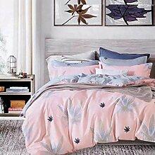 Sucastle Bedding Tribut Baumwollspitze vierteilige einfache Art und Weise pastorale Artbettwäschehaupttextilien Sucastle: Größe: 200 * 230cm