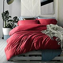 Sucastle Bettwäsche aus ägyptischer Baumwolle Denim Einfarbig Bett Li Chuangbao Geld Sucastle:Größe:220*240cm