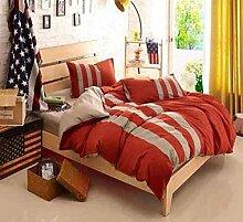 Sucastle Bettwäsche drei Bars eine vierköpfige Familie einfachen soliden Farbe nach Hause Bettwäsche Heimtextilien Sucastle:Farbe:orange:Größe:200*230cm