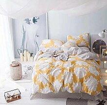 Sucastle Bettwäsche eine vierköpfige Familie einfach zu Hause Bettwäsche Heimtextilien Sucastle:Farbe:gelb:Größe:200*230cm