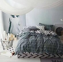 Sucastle Bettwäsche eine vierköpfige Familie einfach zu Hause Bettwäsche Heimtextilien Sucastle:Farbe:dunkel~~POS=TRUNC grau~~POS=HEADCOMP:Größe:200*230cm