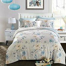 Sucastle,Bettwäsche Eine Vierköpfige Familie Fashion Bedding,Tencel,Bed width:200cm