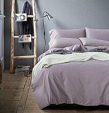 Sucastle Bettwäsche Einfarbig eine vierköpfige Familie die ägyptischen langstapelige Baumwollsatin Suite Sucastle:Größe:200*230cm