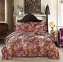 Sucastle Bettwäsche gedruckt Baumwolle Kaschmir Yang eine vierköpfige Familie Baumwollsatin dick Heimtextilien Suite Sucastle:Größe:200*230