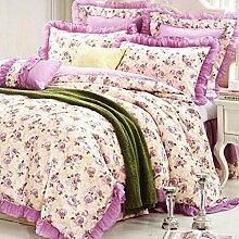 Sucastle Bettwäsche Jacquard Samt Denim kreativ Blumen-Serie Bettwäsche Bettdecke einfach Bettwäsche Heimtextilien Sucastle:Farbe:Farbe:Größe:200*230cm