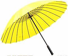 Sucastle Creative, 24 Knochen, Anti-Stark Wind, gerader Stab, Regenschirm, Sonnenschutz, UV, Regen, Dual, Double, Regenschirm Sucastle: Farbe: gelb: Größe: Solitary; 131cm: Durchmesser; 85cm