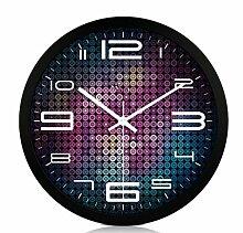 Sucastle Einfach, stilvoll, Wohnzimmer, stumm, Wanduhr, kreativ, Shi Yingzhong, Metall, Wanduhr, Uhrenglas, rund, Eisen, Uhr, WYFC