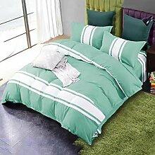 Sucastle einfache Persönlichkeit Bettwäsche Heimtextilien vier Sätze Sucastle: Größe: 200 * 230 cm
