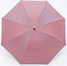 Sucastle Falten, umgekehrt, Regenschirm, dreifach, kreativ, gestreift, Regenschirm, Vinyl, Schatten, Sonnenschutz, sonniger Regen, Regenschirm Sucastle: Farbe: Pulver Streifen: Größe: Solitary; 110cm: Durchmesser; 65cm