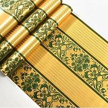 Sucastle®,Gold Tapeten, moderne Platin gestreifte Tapete