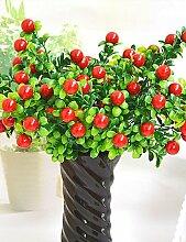 Sucastle®, hochwertigem Kunstwerke helle Farbe Mini-Simulation Obst Gemüse zur Dekoration , yellow, Künstliche Blumen, Simulationsblumen