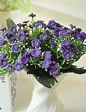 Sucastle®, hochwertigen Kunstblumen für Heimtextilien helle Farbe Orchideen Seide Blume für Hochzeitsstrauß , purple, Künstliche Blumen, Simulationsblumen