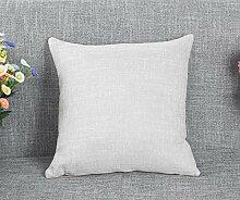 Sucastle Home Auto Bett Sofa dekorativeKissen Kissenbezug Flachs 45*45cm
