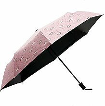 Sucastle Kreativ, bewölkt, sonniger Regenschirm, Sonnenschutz, Vinyl, Schatten, klein frisch, Sonnenschirm, Anti-Ultraviolett, Falten, Regenschirm Sucastle: Farbe: Pink: Größe: Solitär; 108cm: Durchmesser; 69cm